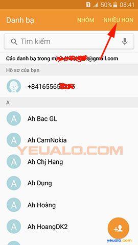 Cách chuyển danh bạ từ điện thoại Lumia sang điện thoại Samsung Galaxy 7