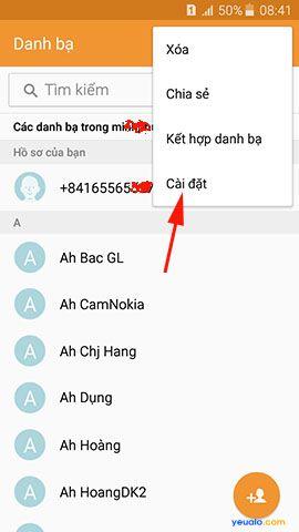 Cách chuyển danh bạ từ điện thoại Lumia sang điện thoại Samsung Galaxy 8