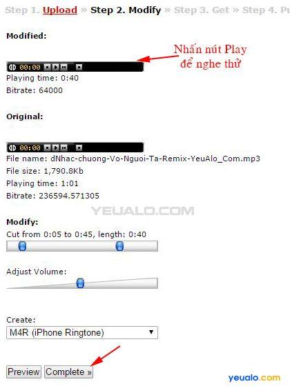 Cách chuyển file mp3 sang file m4r 3