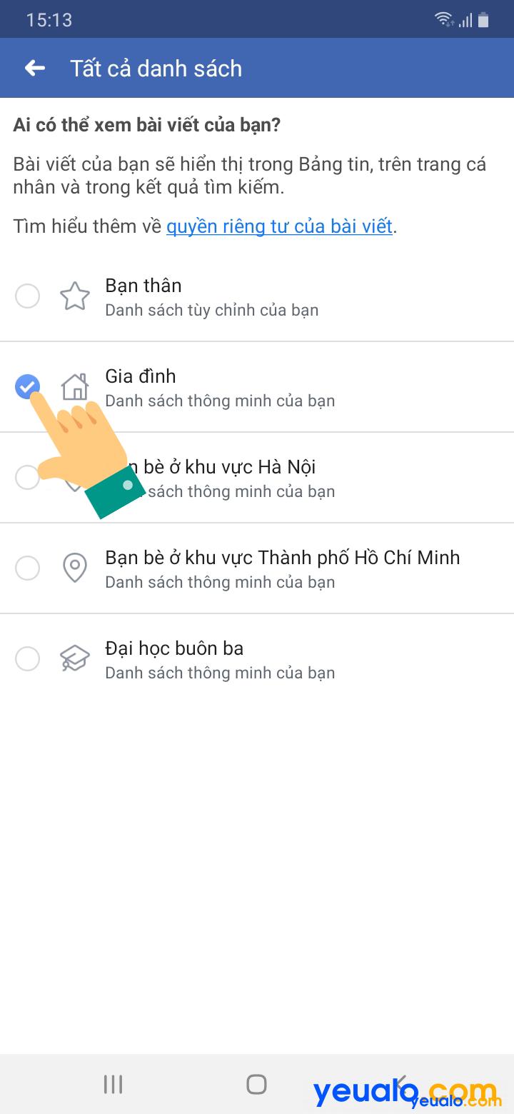 Cách đăng ảnh, status chỉ một số người biết trên Facebook trên điện thoại 4
