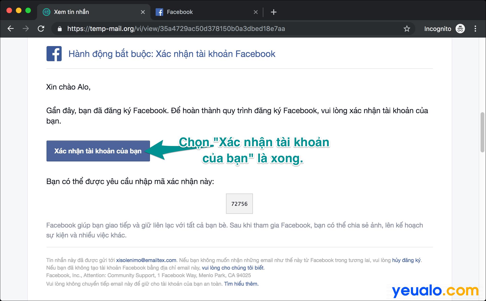 Cách đăng ký Facebook không cần số điện thoại và email 4