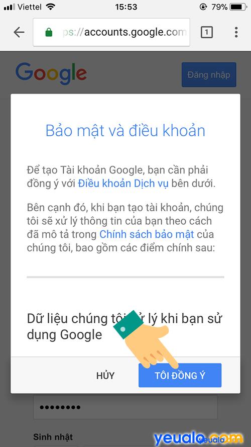Cách đăng ký Gmail tài khoản Google bằng điện thoại 4