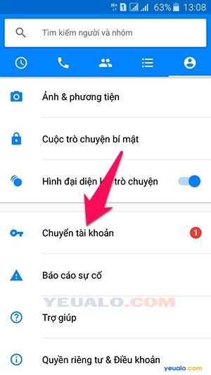 Cách đăng nhập nhiều tài khoản Facebook trên Messenger 2