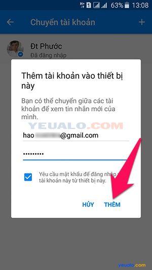 Cách đăng nhập nhiều tài khoản Facebook trên Messenger 4