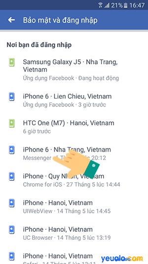 Cách đăng xuất Messenger từ xa trên điện thoại 6