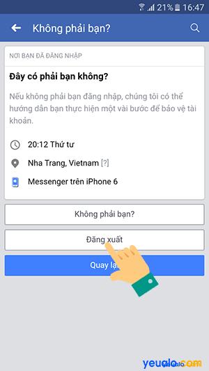Cách đăng xuất Messenger từ xa trên điện thoại 7
