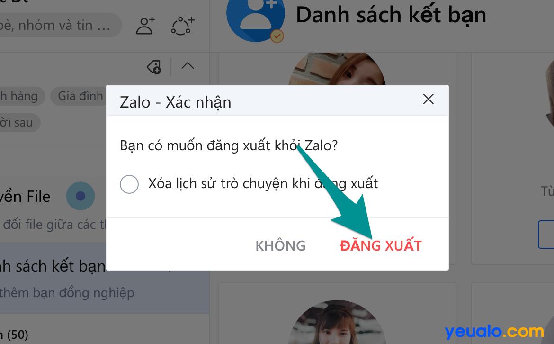 Cách đăng xuất Zalo trên máy tính 3