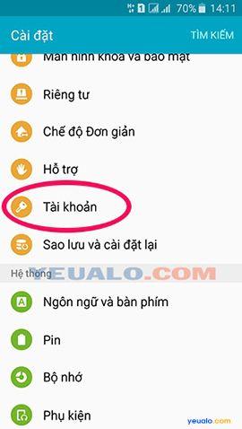 Cách đăng xuất tài khoản Google Play trên điện thoại Android 2