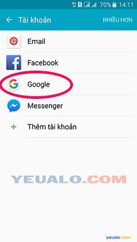 Cách đăng xuất tài khoản Google Play trên điện thoại Android 3