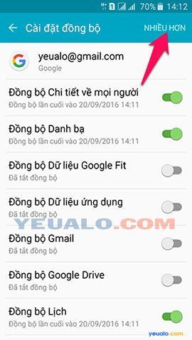 Cách đăng xuất tài khoản Google Play trên điện thoại Android 5