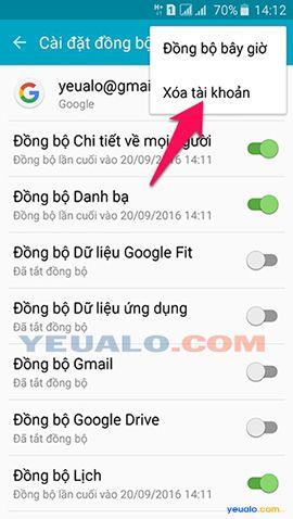 Cách đăng xuất tài khoản Google Play trên điện thoại Android 6