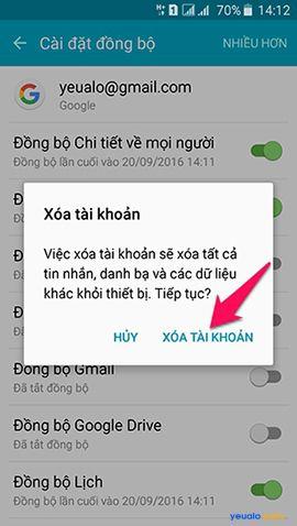 Cách đăng xuất tài khoản Google Play trên điện thoại Android 7