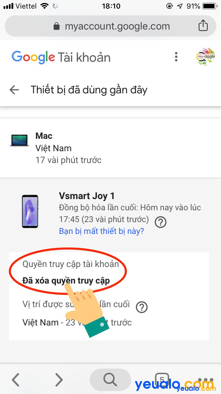 Cách đăng xuất tài khoản Google từ xa bằng điện thoại 6