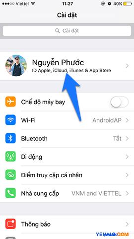 Hướng dẫn cách đăng xuất tài khoản iCloud ra khỏi máy điện thoại iPhone 2