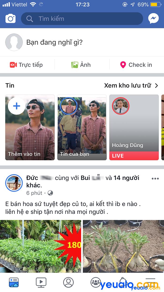 Cách đổi ngôn ngữ Facebook sang tiếng Việt trên điên thoại iPhone 7