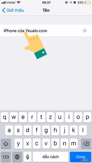 Cách đổi tên điểm phát Wifi Bluetooth iPhone iPad 4