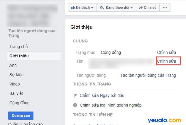 Cách đổi tên Fanpage Facebook 2019