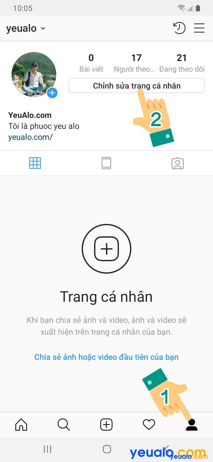 Cách đổi tên Instagram kí tự đặc biệt đẹp 2