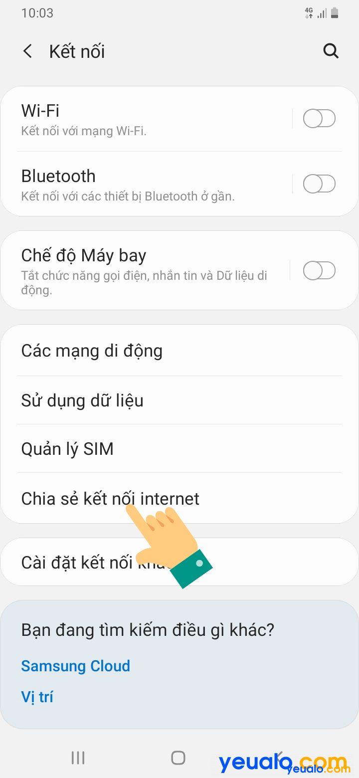 Cách đổi tên, mật khẩu điểm phát Wifi Samsung 3