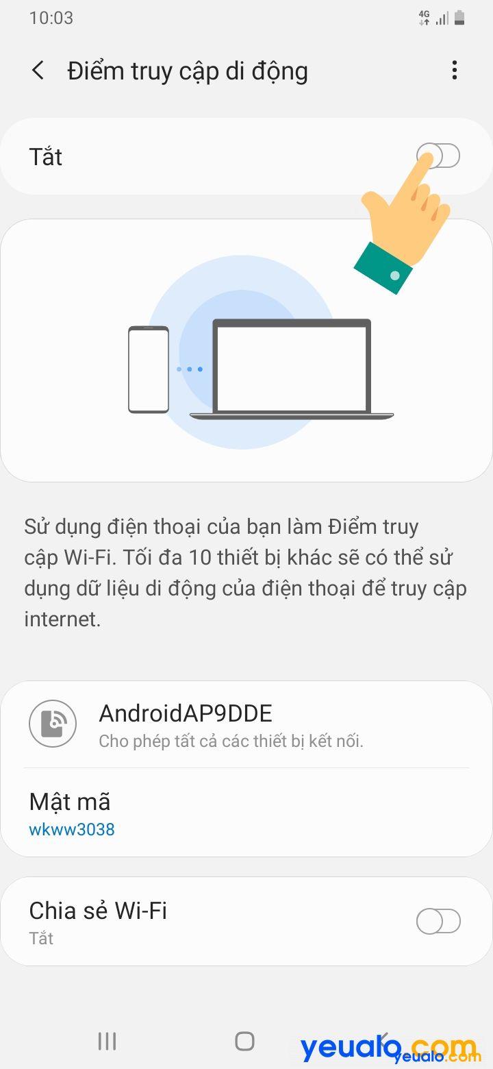 Cách đổi tên, mật khẩu điểm phát Wifi Samsung 5