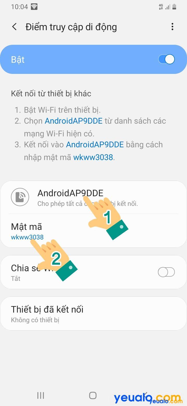 Cách đổi tên, mật khẩu điểm phát Wifi Samsung 6