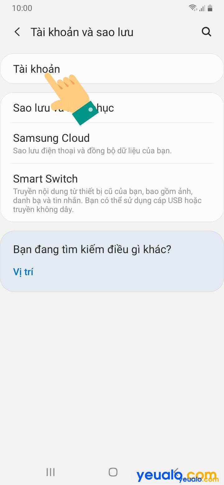Cách đồng bộ danh bạ trên điện thoại Samsung 3