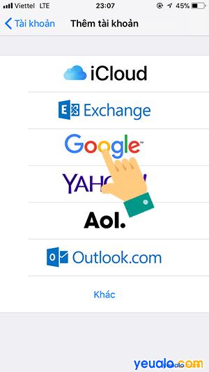 Cách lấy danh bạ từ Gmail sang iPhone 4