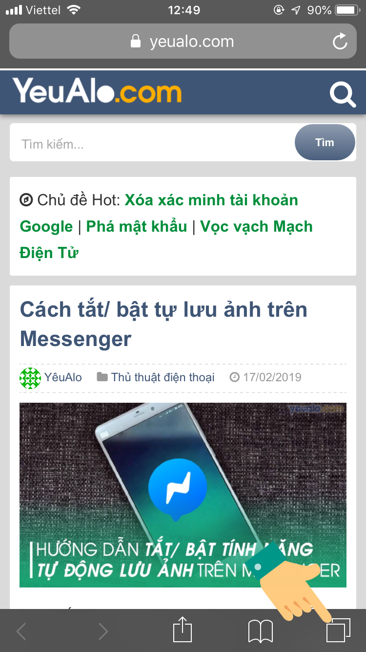 Cách đóng tab ẩn danh Safari trên iPhone