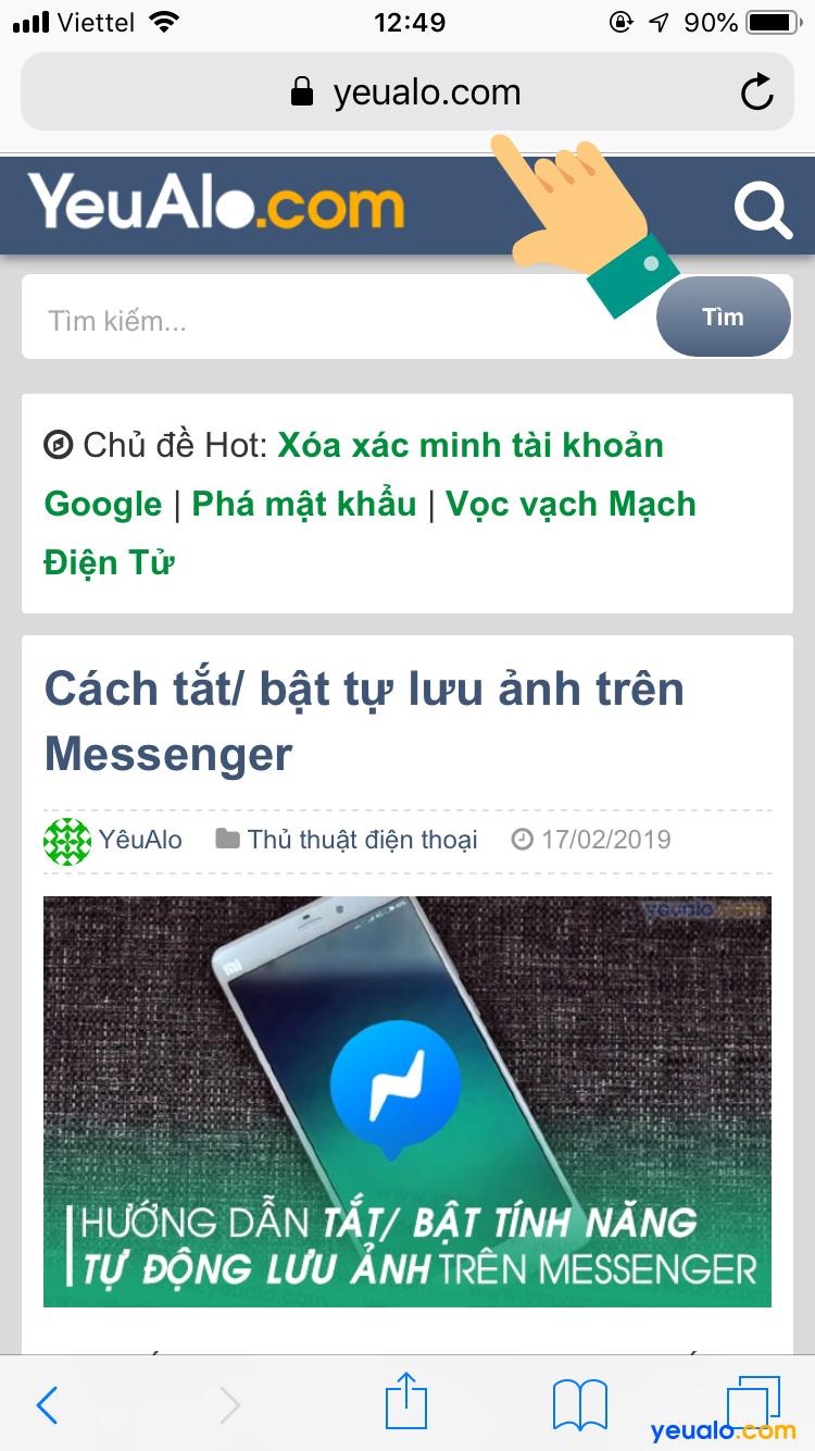 Cách đóng tab ẩn danh Safari trên iPhone 9