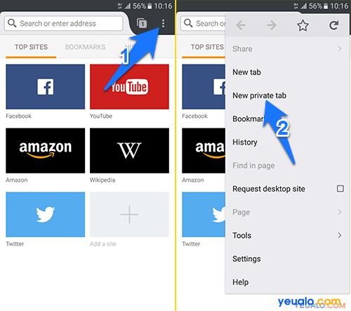 Cách duyệt web ẩn danh Firefox trên điện thoại Android