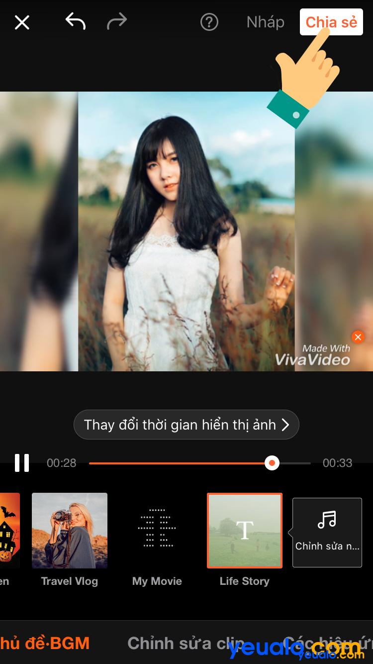 Cách ghép nhạc vào ảnh trên iPhone 9