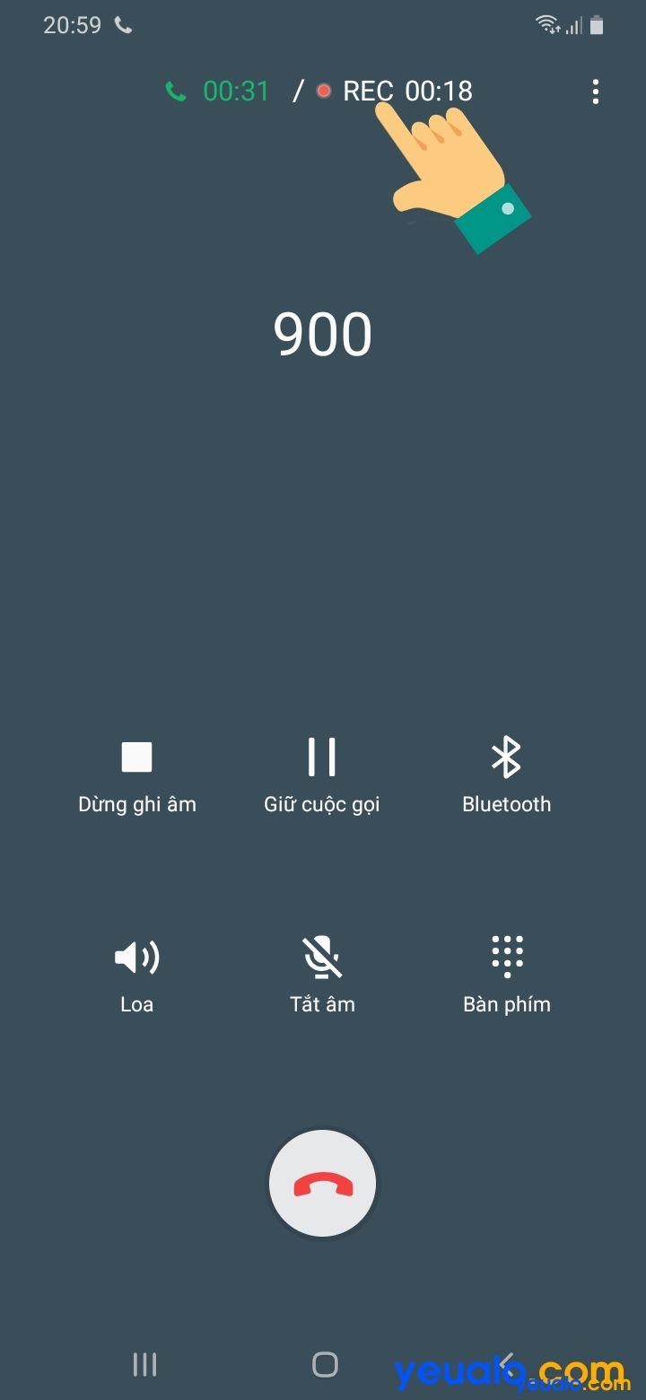 Cách ghi âm cuộc gọi Samsung 2