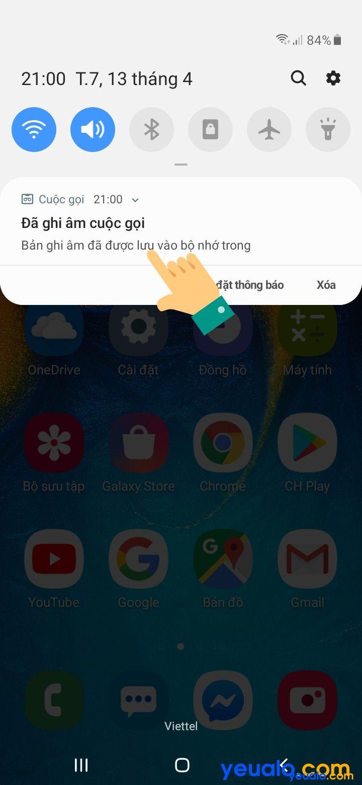 Cách ghi âm cuộc gọi Samsung 3