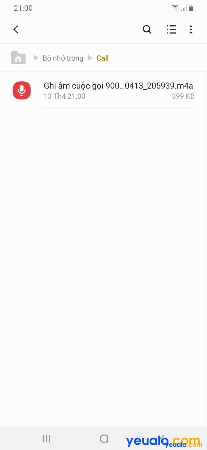 Cách ghi âm cuộc gọi Samsung 4