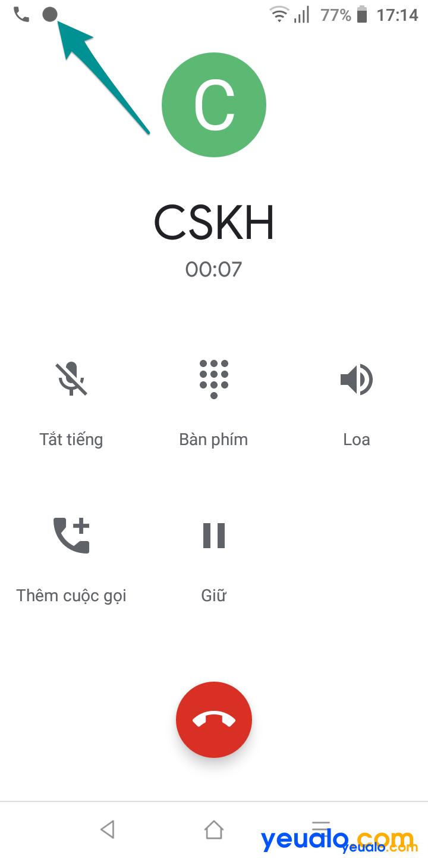 Cách ghi âm cuộc gọi điện thoại Vsmart 6