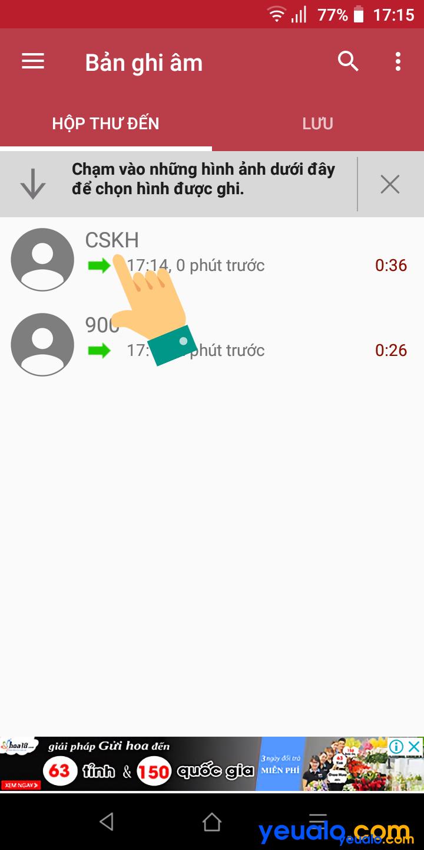 Cách ghi âm cuộc gọi Vsmart 7