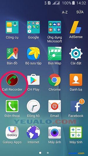 Cách ghi âm cuộc gọi điện thoại Samsung Galaxy 1
