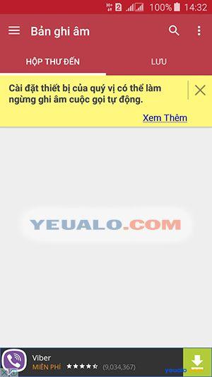 Cách ghi âm cuộc gọi điện thoại Samsung Galaxy 2