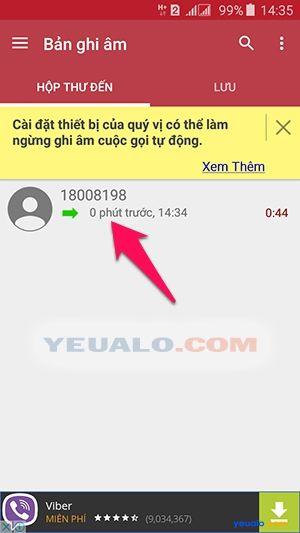Cách ghi âm cuộc gọi điện thoại Samsung Galaxy 4