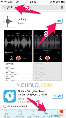 Cách ghi âm trên điện thoại iPhone 2