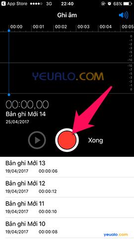 Cách ghi âm trên điện thoại iPhone 3