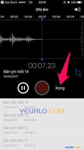Cách ghi âm trên điện thoại iPhone 4