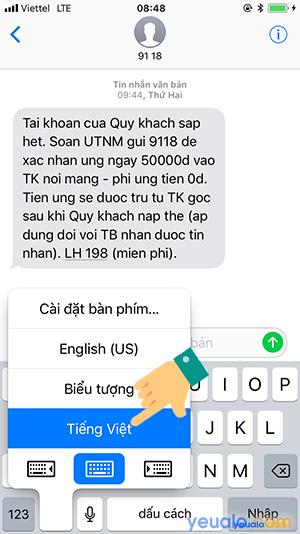 Cách gõ Tiếng Việt trên iPhone 10