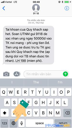 Cách gõ Tiếng Việt trên iPhone 9