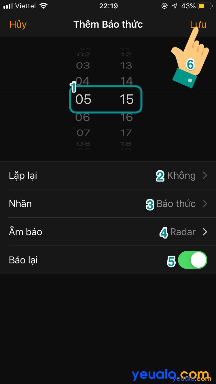 Cách hẹn giờ báo thức iOS 12 4