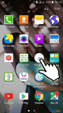 Cách hẹn giờ báo thức trên điện thoại Samsung Galaxy 1