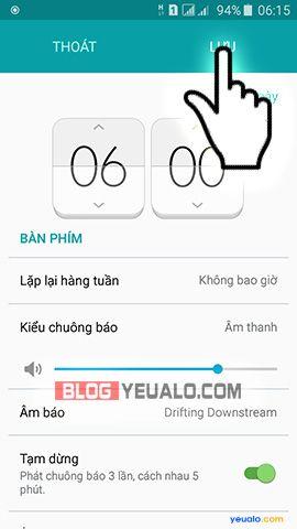 Cách hẹn giờ báo thức trên điện thoại Samsung Galaxy 3