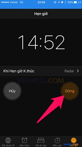Cách hẹn giờ báo thức trên điện thoại iPhone 6