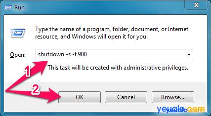 Cách hẹn giờ tắt máy tính