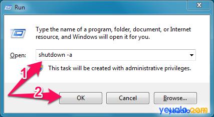 Cách hẹn giờ tắt máy tính bàn 3